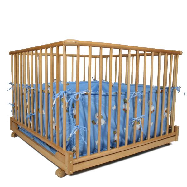parc b b rectangulaire pliable canards amovible en bois. Black Bedroom Furniture Sets. Home Design Ideas