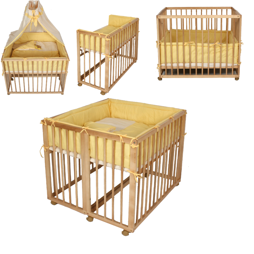 baby twin rollaway cot wooden bed security safe mounting system easy fix yellow ebay. Black Bedroom Furniture Sets. Home Design Ideas