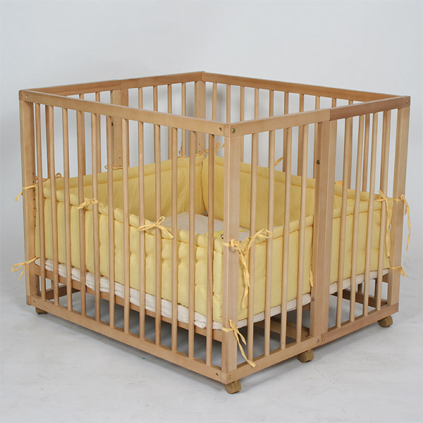Baby twin rollaway cot wooden bed security safe mounting - Parc bebe ikea ...
