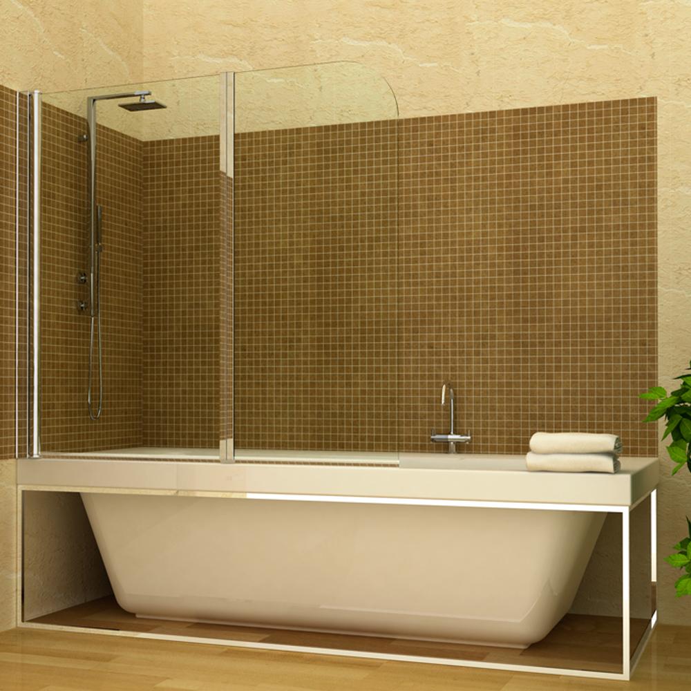 Douche pliante salle de bain panel de porte en verre 2 - Porte en verre salle de bain ...