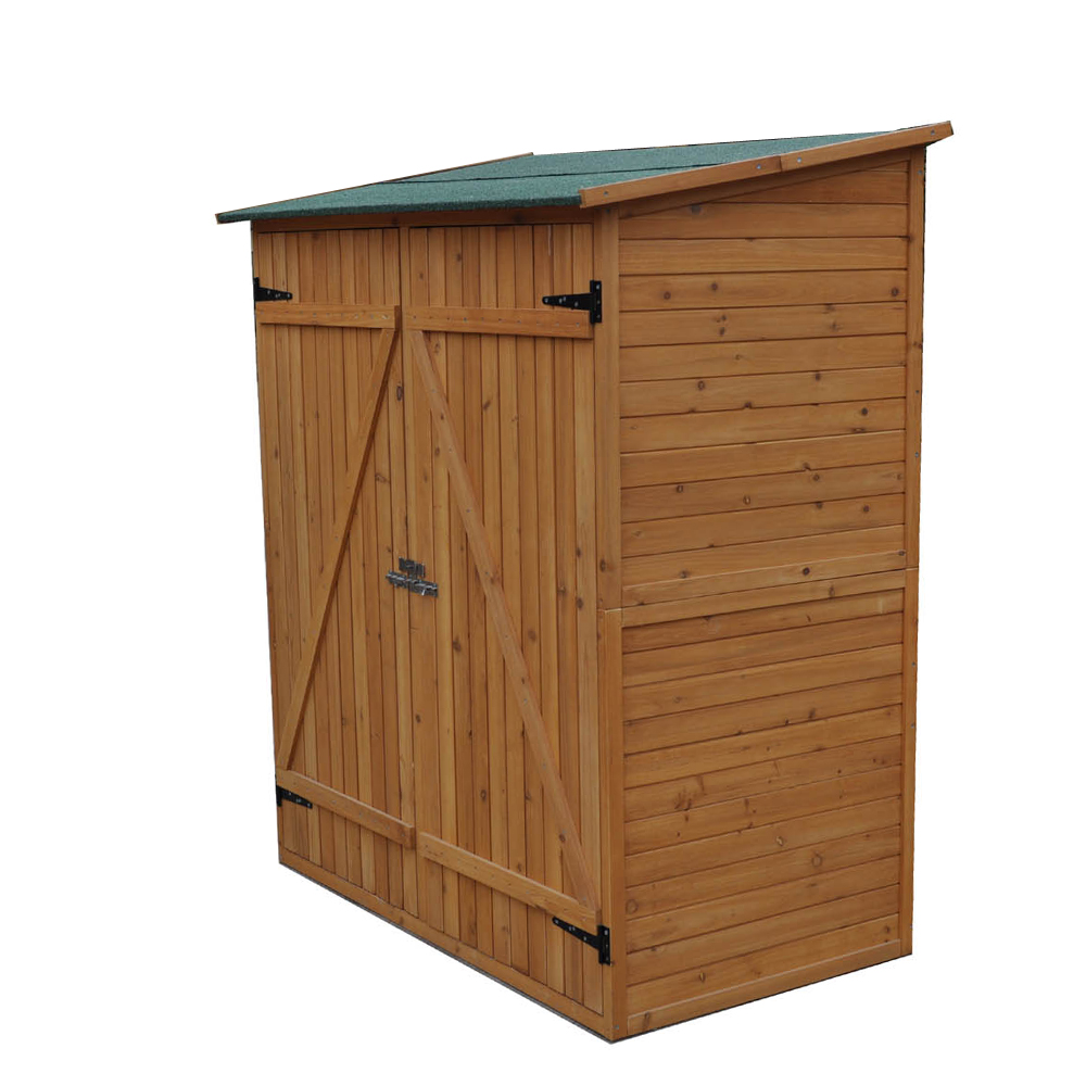 Garden Shed Storage Wooden Tool Cabinet Weatherproof Box Sheds Double