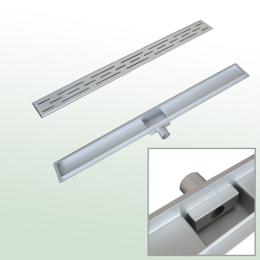 Slot shower drain
