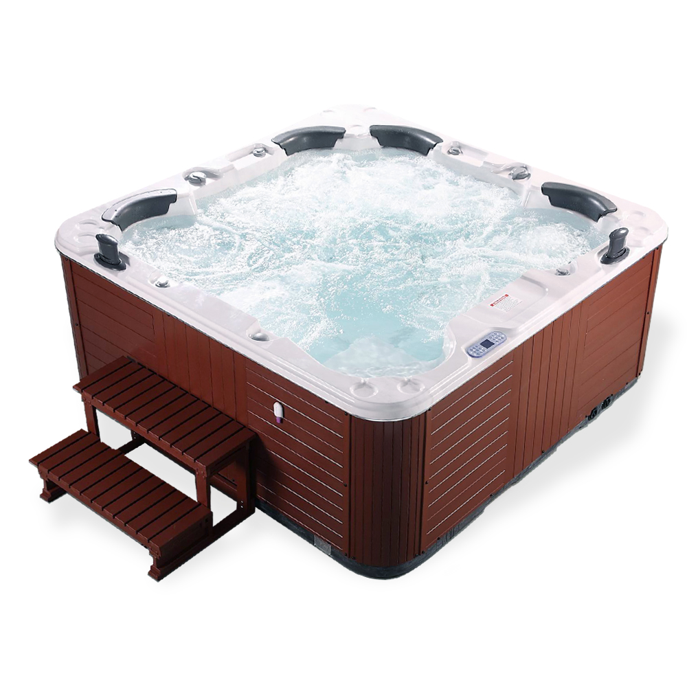 outdoor whirlpool spa luxury hot tub jacuzzi 6 person. Black Bedroom Furniture Sets. Home Design Ideas