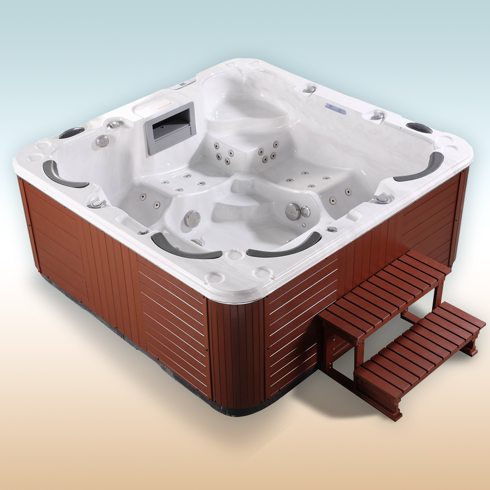 outdoor whirlpool spa luxury hot tub jacuzzi 6 person relax massage heating usb ebay. Black Bedroom Furniture Sets. Home Design Ideas