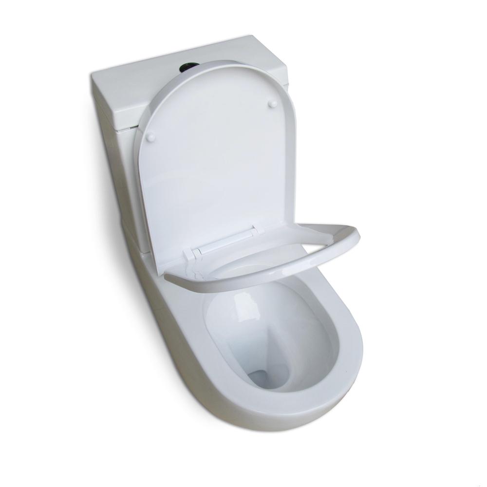 Design Ceramic Toilet Seat Universal Wall Hanging Mount High Quality White Ne