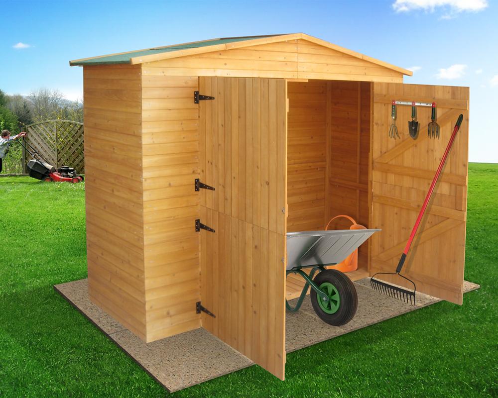 cabane de jardin en bois dur xxl tuiles bitum es r sistant aux intemp ries ebay. Black Bedroom Furniture Sets. Home Design Ideas