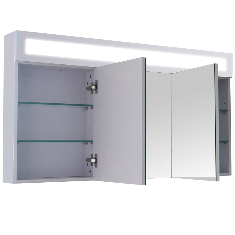 3d Mirrored Wardrobe Bathroom Cabinet Furniture Wall Mirror Illuminated 120 Cm Ebay
