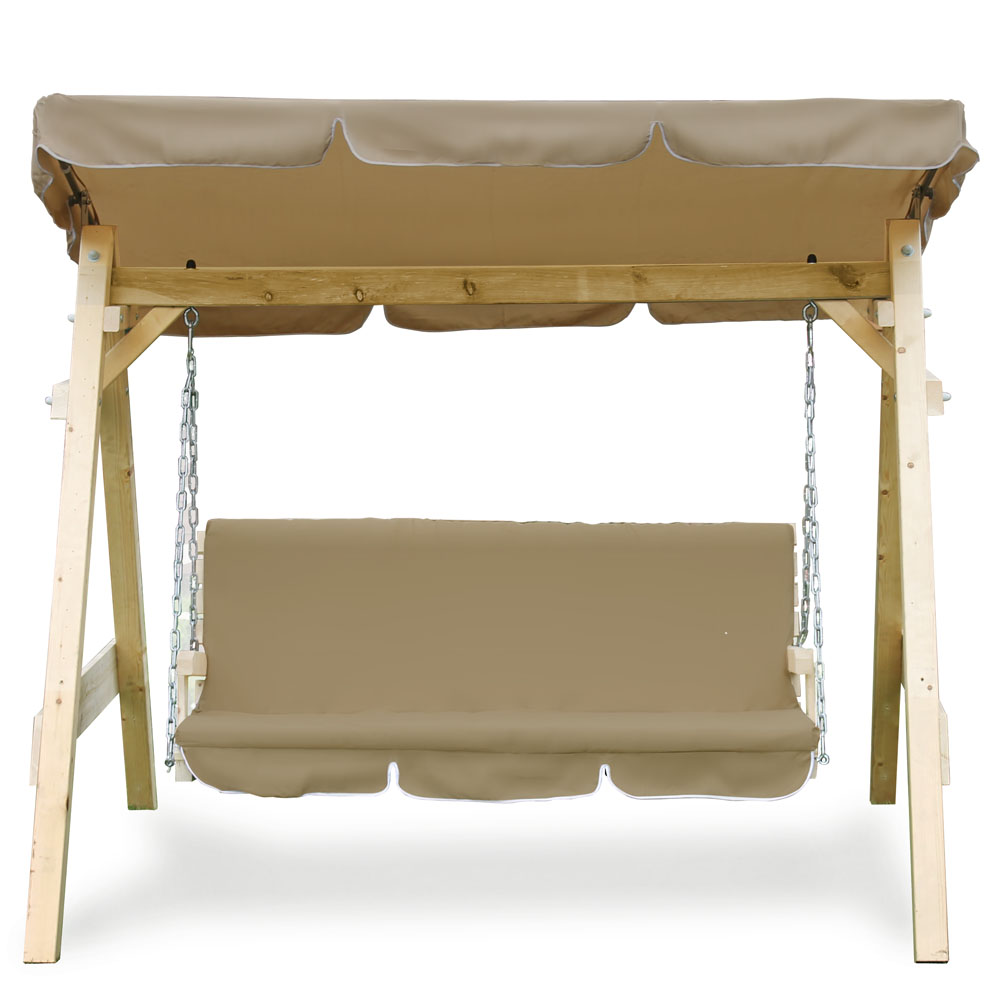 Wooden Garden Patio Porch Swing Bench Solid Furniture Durable Seat Cover Stable Ebay