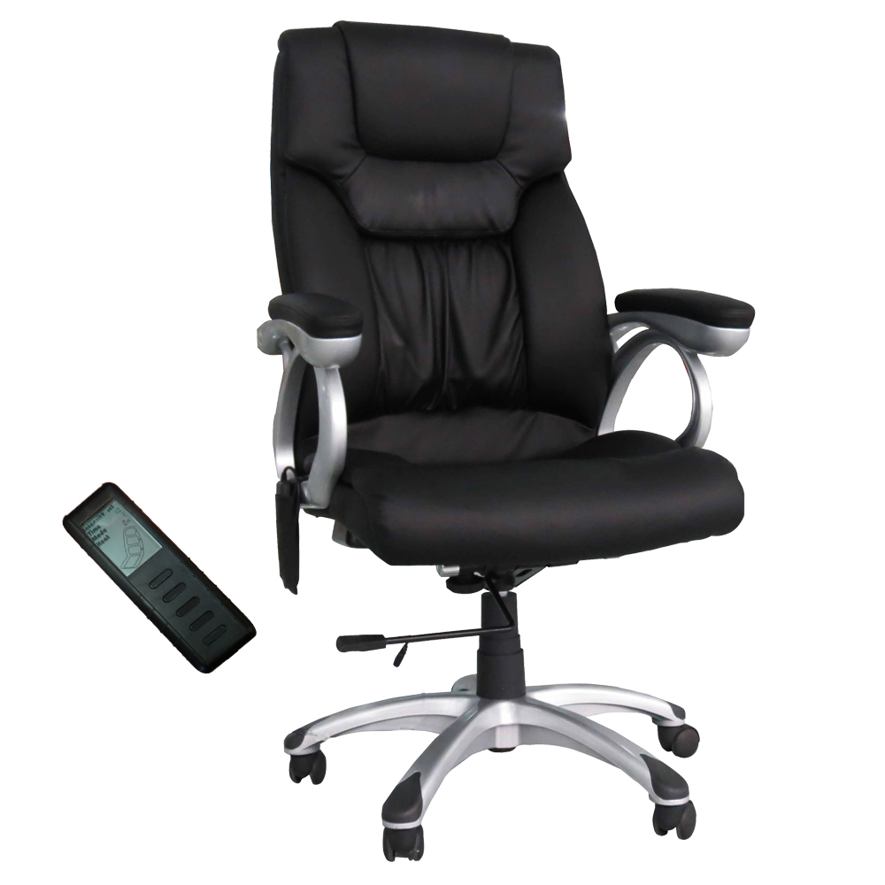 shiatsu office massage desk chair heating executive swivel adjustable