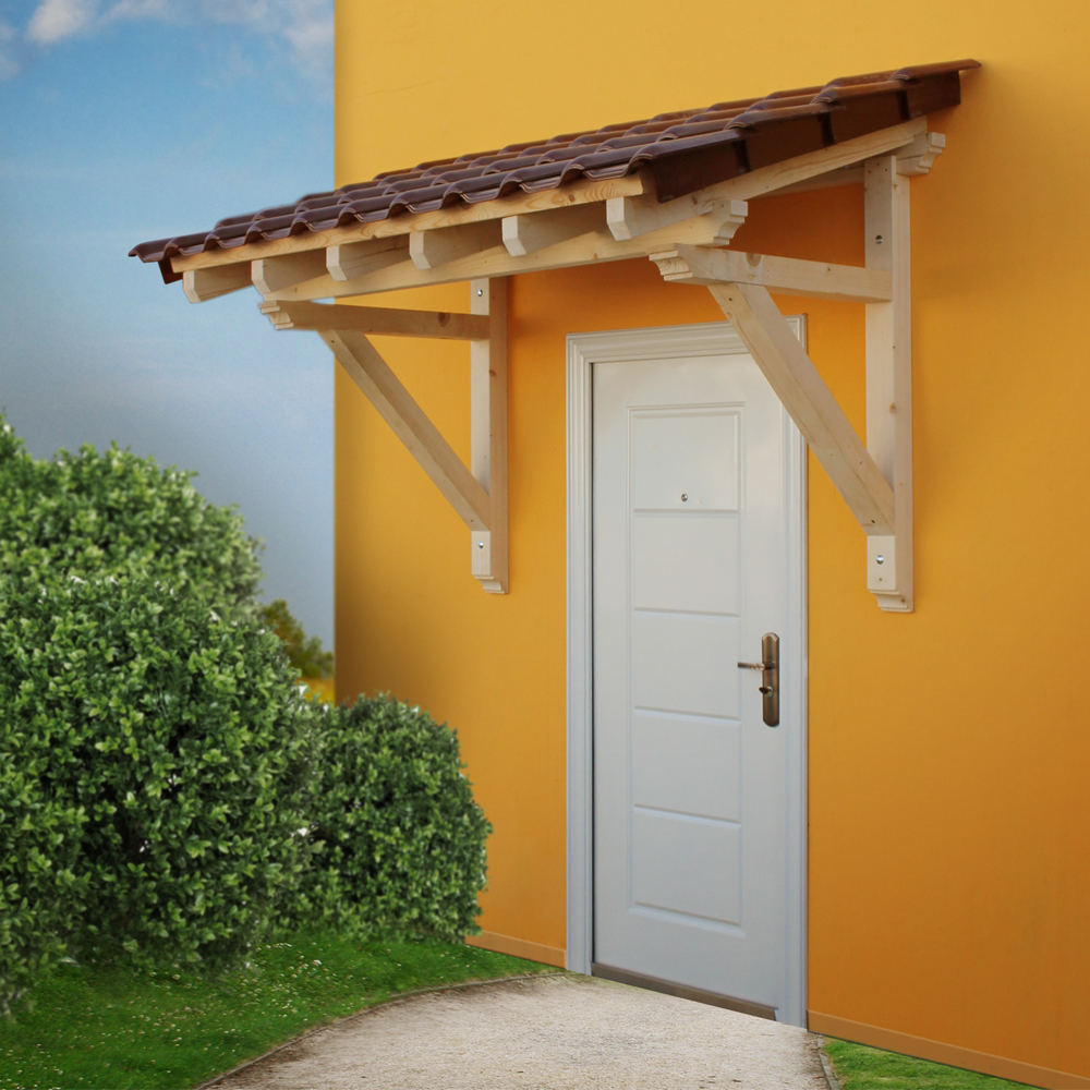 Wood Canopy Porch Door Awning 2050 Mm Panel Solid Timber