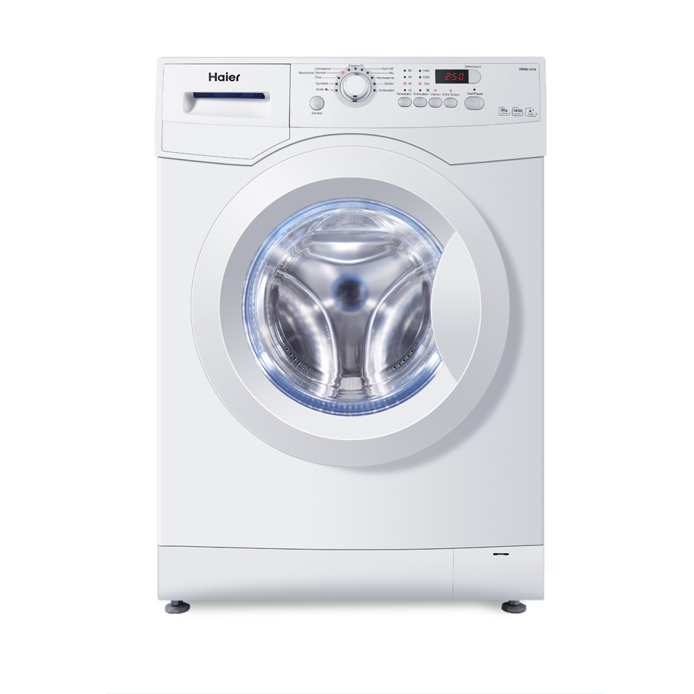 haier washing machine 7kg abt 1400 rpm white a front load hw70 1402d brand new ebay. Black Bedroom Furniture Sets. Home Design Ideas