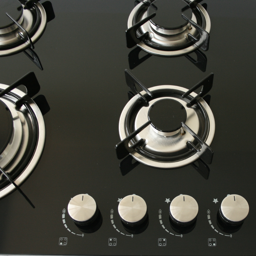Gas Hob Self Sufficient 60cm Glass Ceramic Surfase