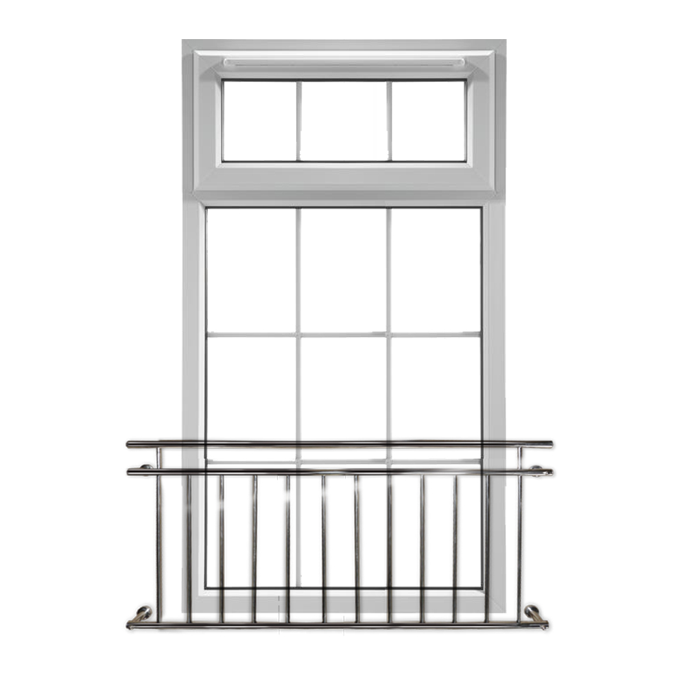 Balcony railing window grille french style stainless steel for Balcony window