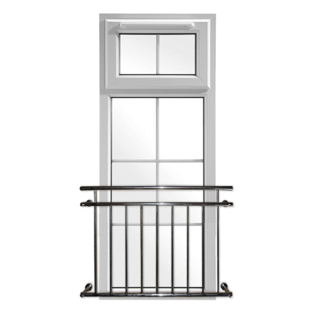 Juliet balcony railing balustrade french rod stainless for Balcony window