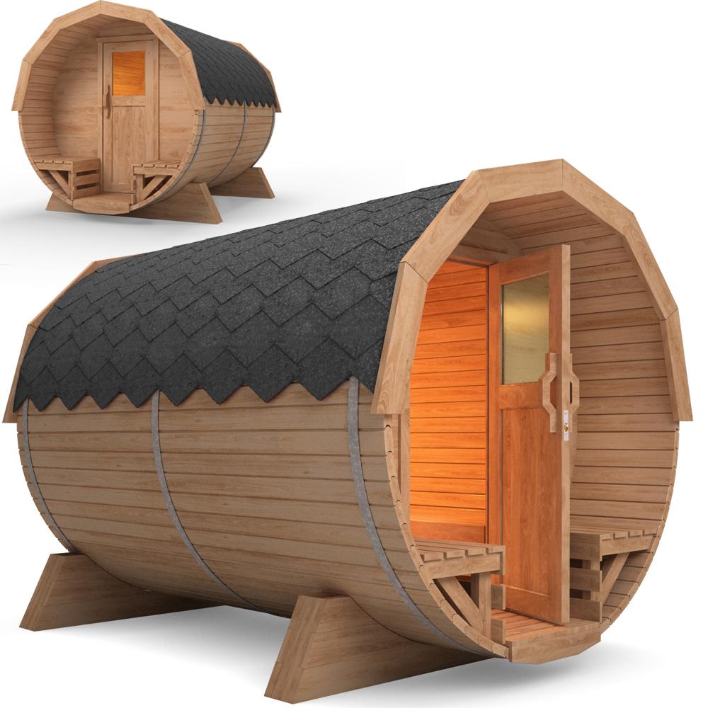 Sauna de jardin sauna baril en bois de tonneau barrell sauna po le harvia inc - Sauna exterieur poele bois ...