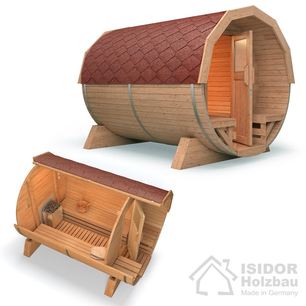 sauna de jardin sauna baril en bois de tonneau barrell. Black Bedroom Furniture Sets. Home Design Ideas