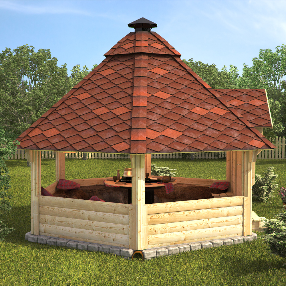 wooden bbq hut grill house grillkota barbecue winter summer garden log cabin ebay. Black Bedroom Furniture Sets. Home Design Ideas