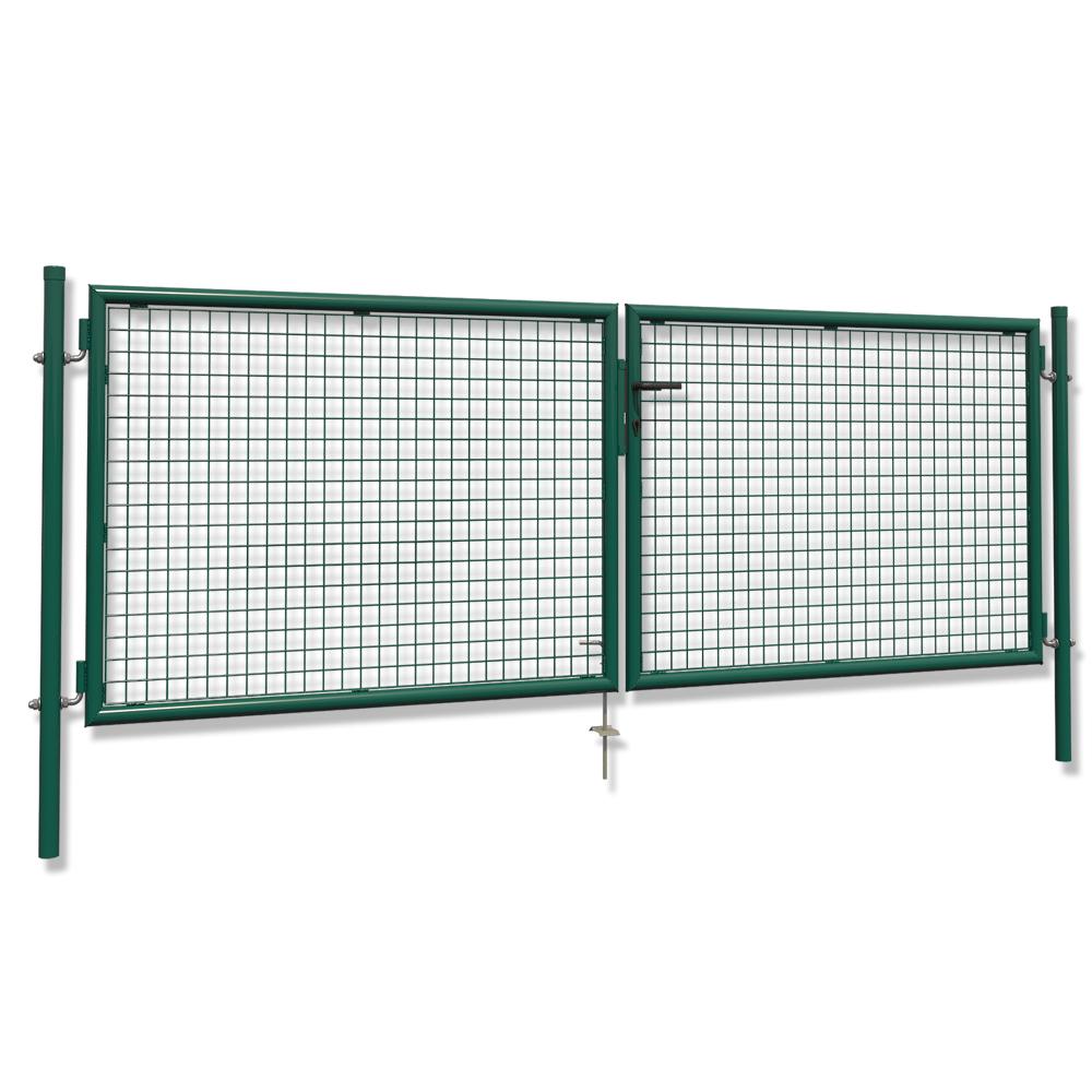 Cancello a doppio battente pali porta ingresso 300x100cm blocco di 3 chiavi ebay - Porta a doppio battente ...