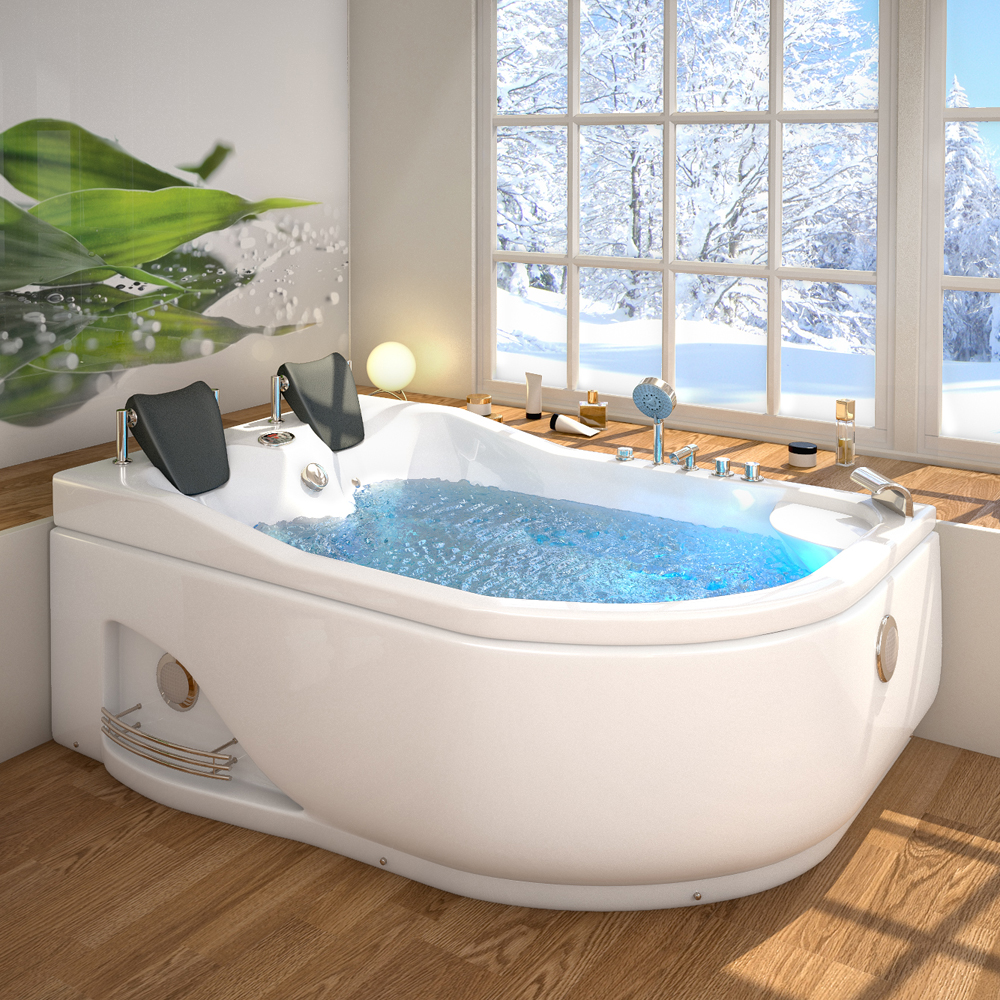 jacuzzi corner bath tub 2 person corner spa bath jacuzzi left ebay. Black Bedroom Furniture Sets. Home Design Ideas