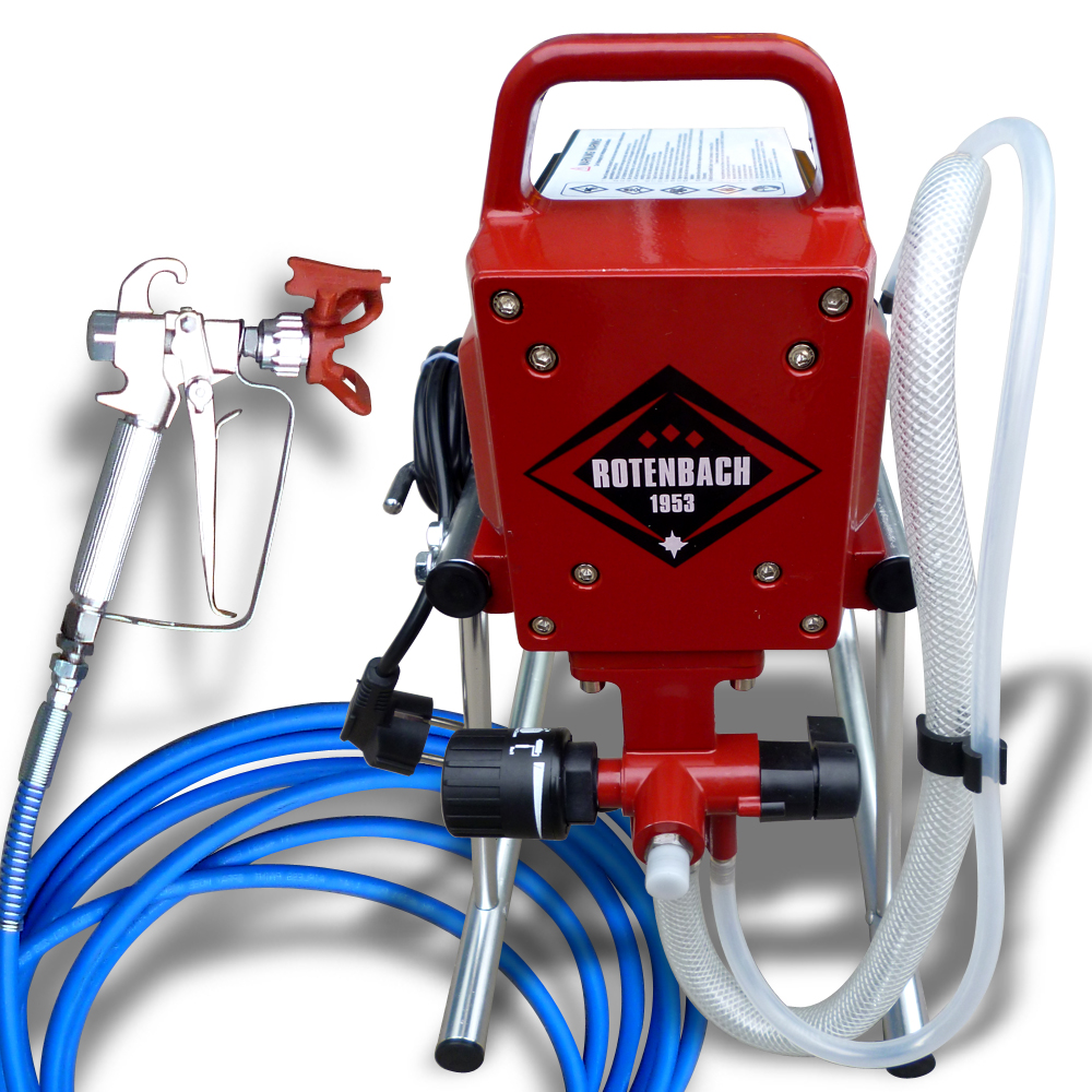 Rotenbach airless paint sprayer spray gun including ease for Air or airless paint sprayer