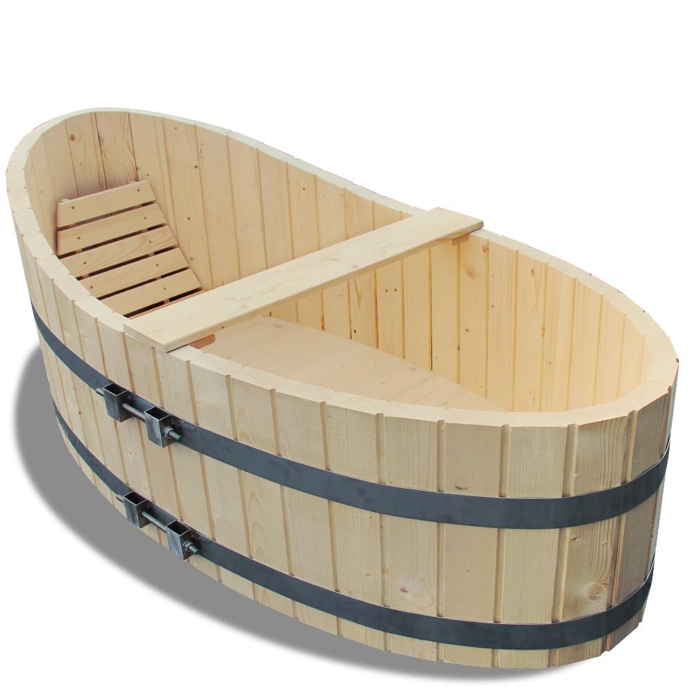 178x87cm vasca da bagno in legno massiccio completa di - Vasca bagno legno ...