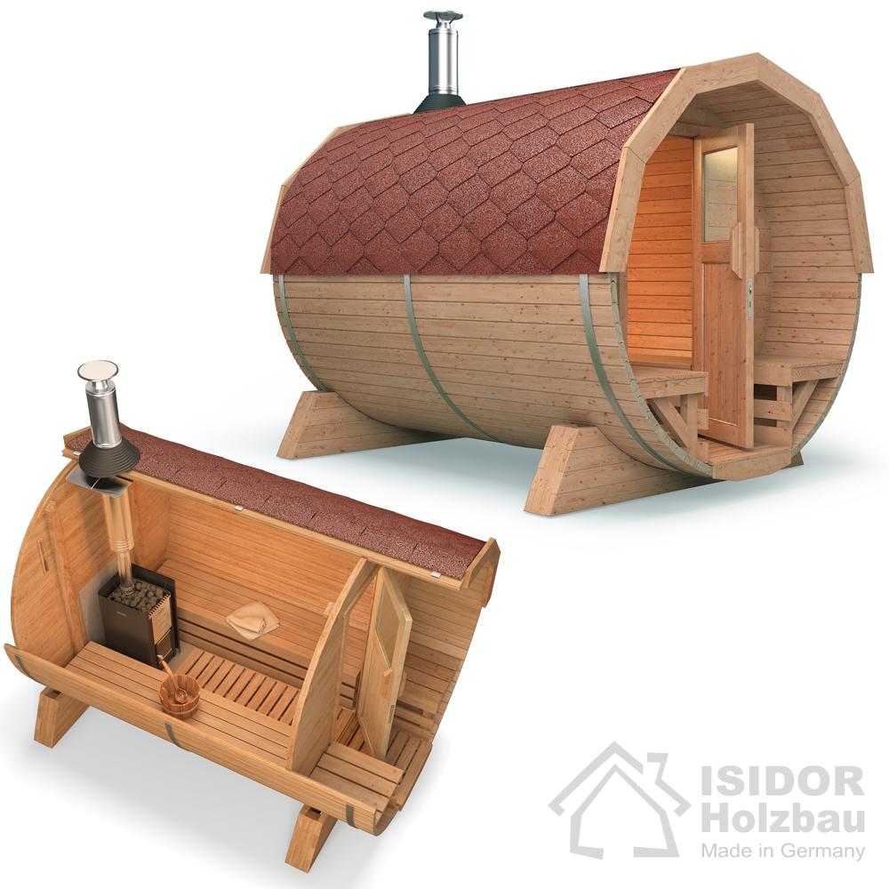 Isidor premium cabine sauna sauna ext rieur sauna de jardin po le bois ebay - Sauna exterieur bois ...