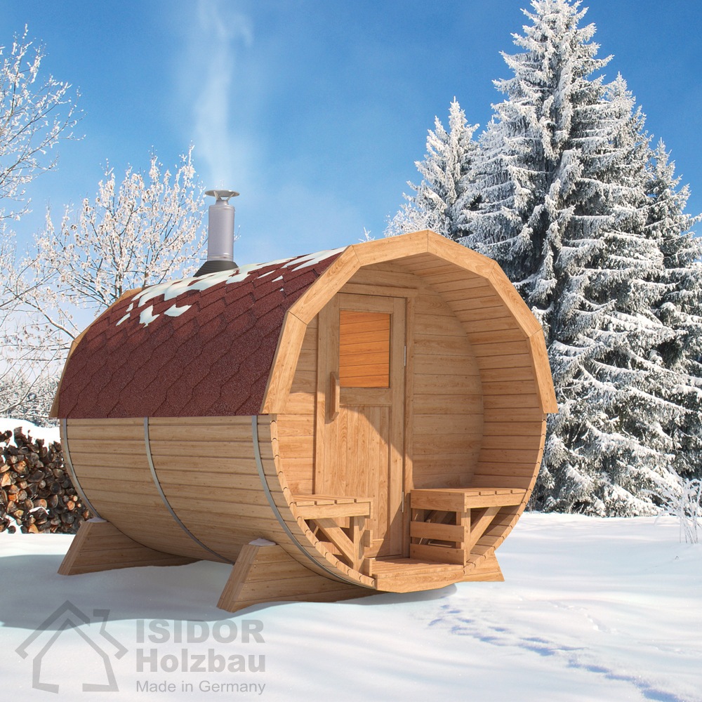 isidor premium cabine sauna sauna ext rieur sauna de jardin po le bois ebay. Black Bedroom Furniture Sets. Home Design Ideas