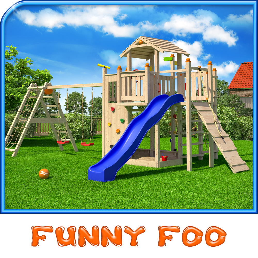 Humorous Structural Glass : Qisidor funny foo play tower climbing frame slide swings