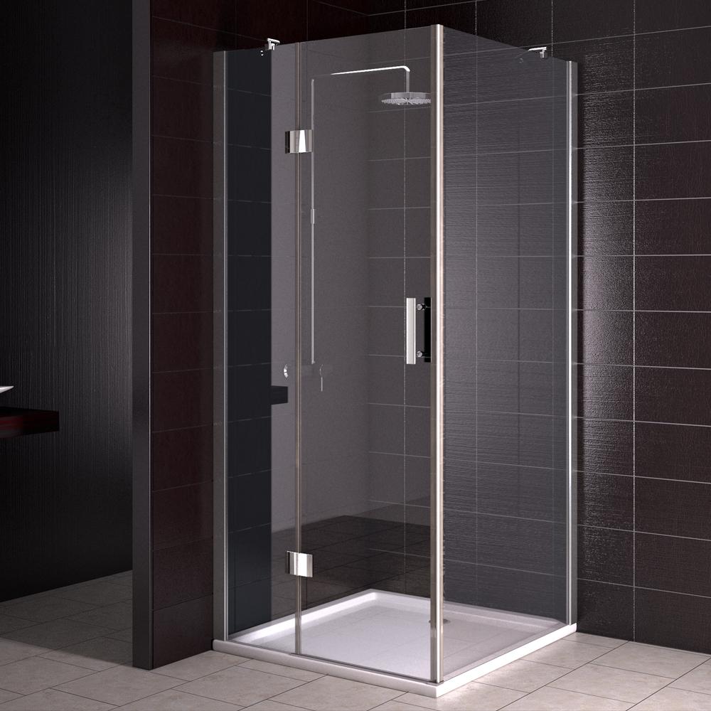 Cloison de douche douche baignoire cabine de douche 80x80 cm rev tement nano ebay - Cloison de douche ...