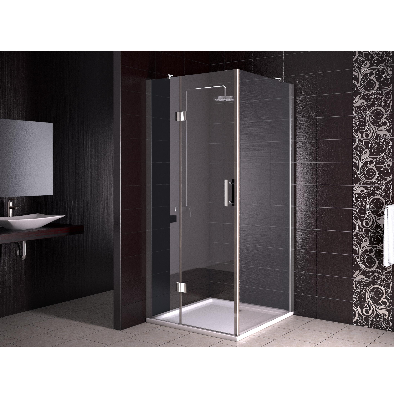cloison de douche douche baignoire cabine de douche 80x80 cm rev tement nano. Black Bedroom Furniture Sets. Home Design Ideas