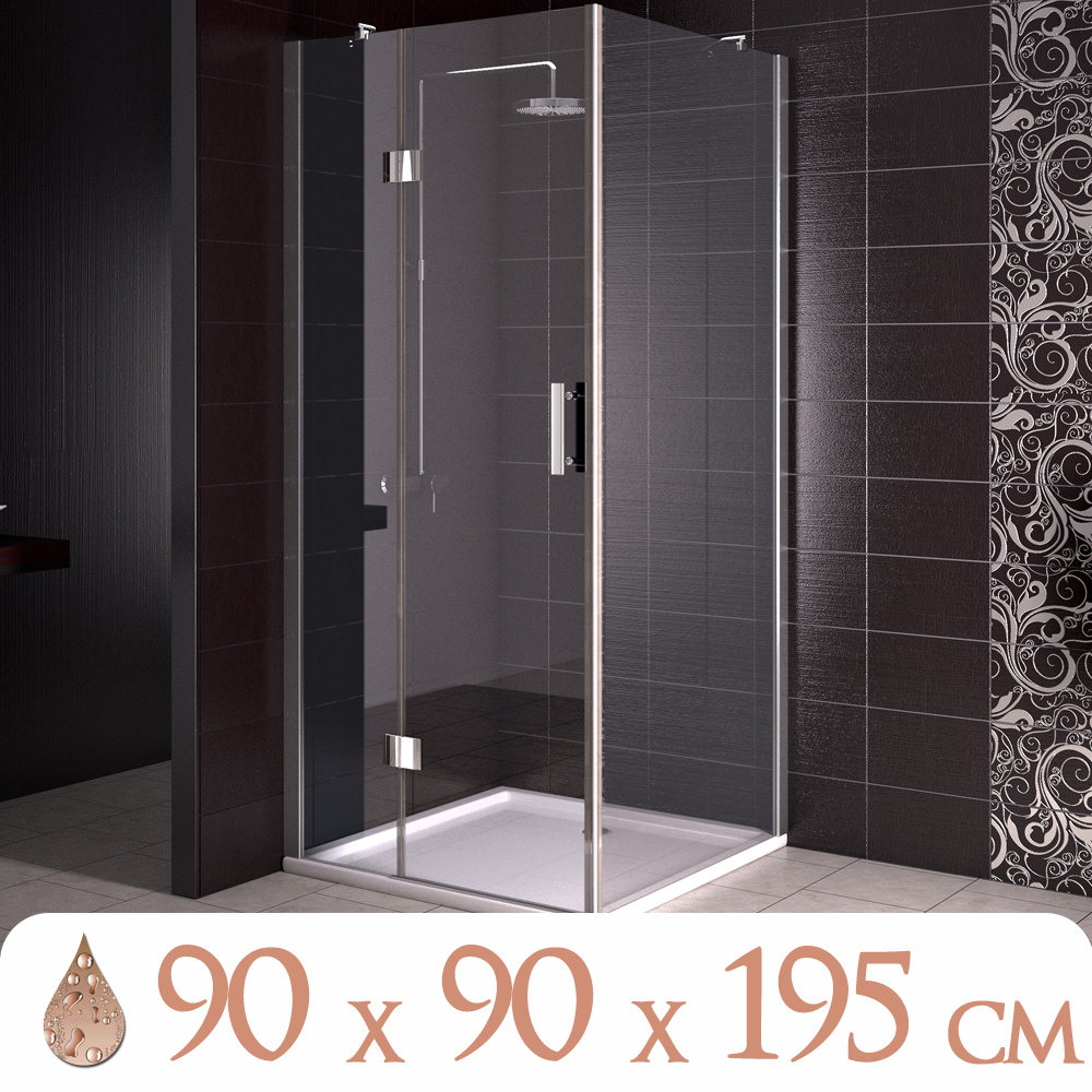 Ducha cabina de ducha duchador cuarto de ba o 90x90 cm for Mampara ducha 70 x 90