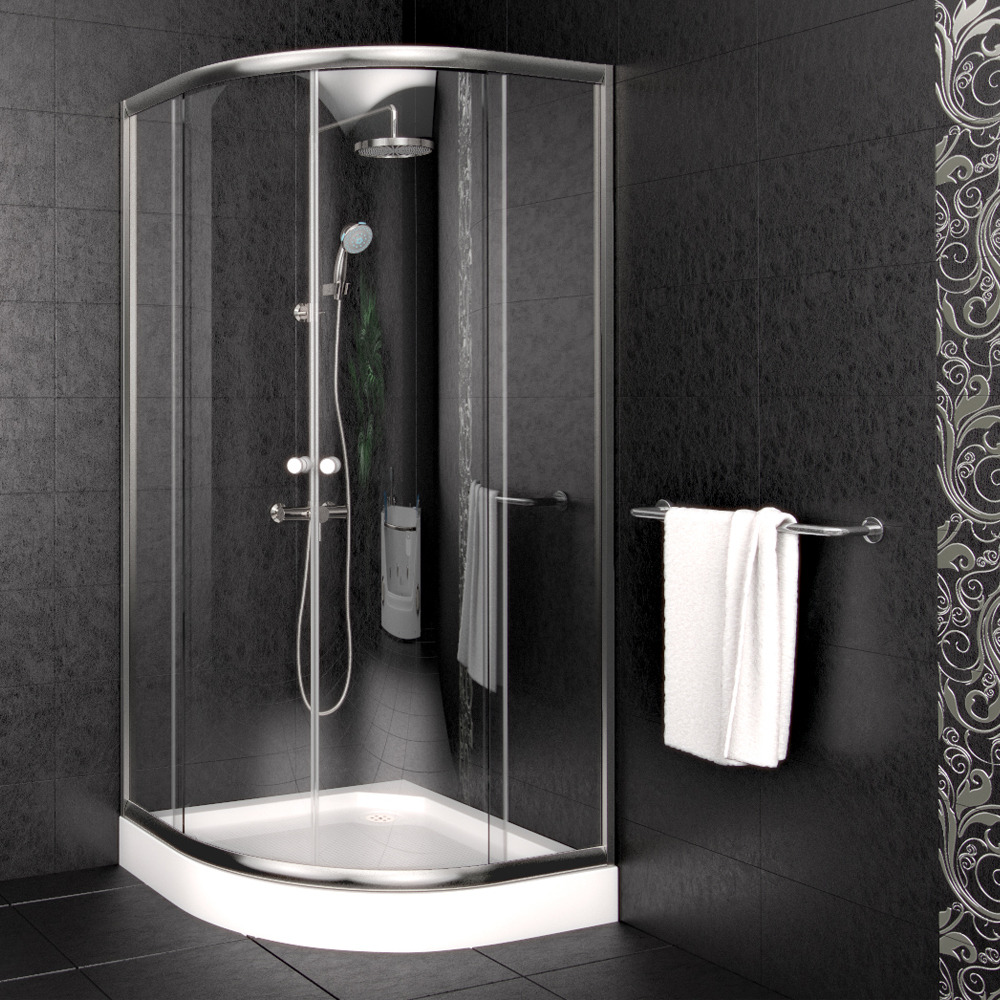 cabine de douche receveur cloison bac de douche douche 90x90 cm en quart de rond ebay. Black Bedroom Furniture Sets. Home Design Ideas