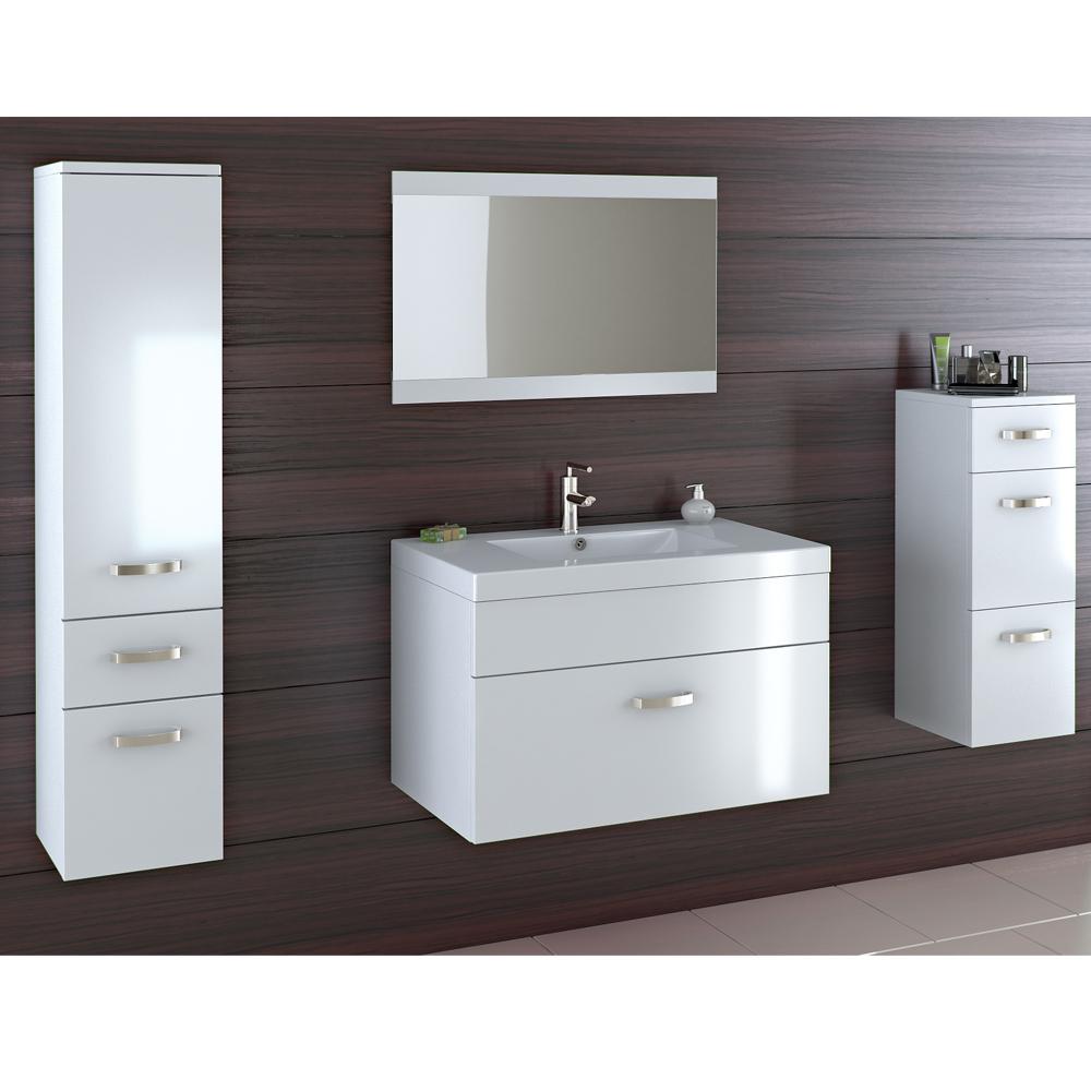 Mobile per bagno set da bagno mobile da bagno bianco mdf for Mobile bianco per bagno