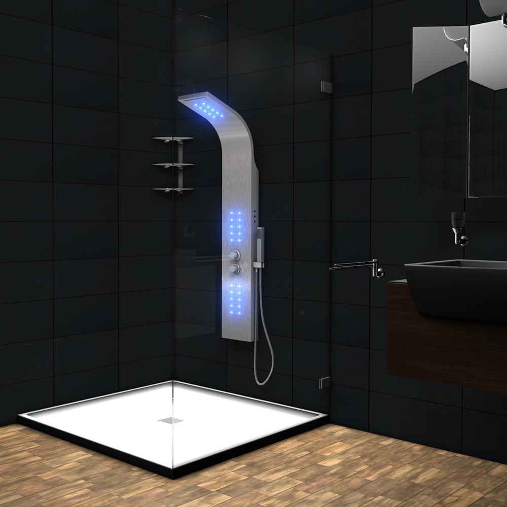 Doccia Pannello doccia Box Doccia a pioggia Box doccia a cascata Colonna LED  eBay