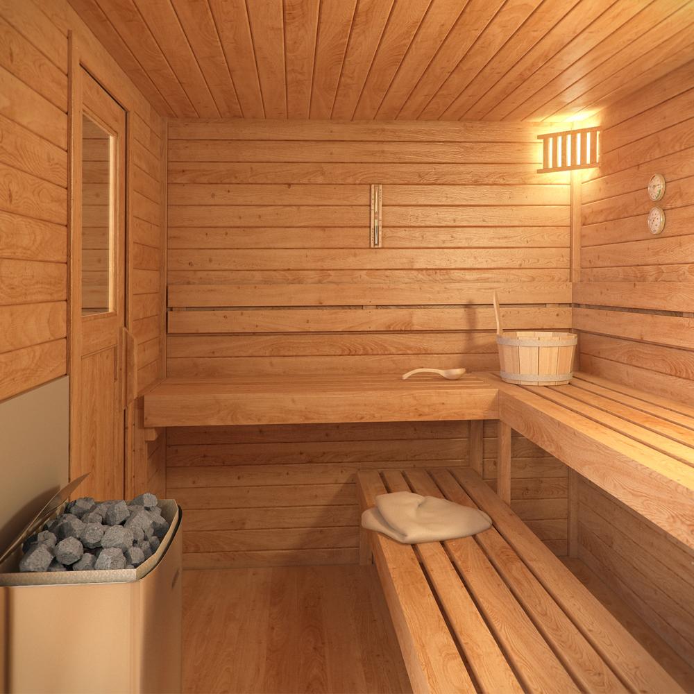 Madera Para Sauna Sauna Finlandesa N En Madera De Abeto Sueco Con - Sauna-madera