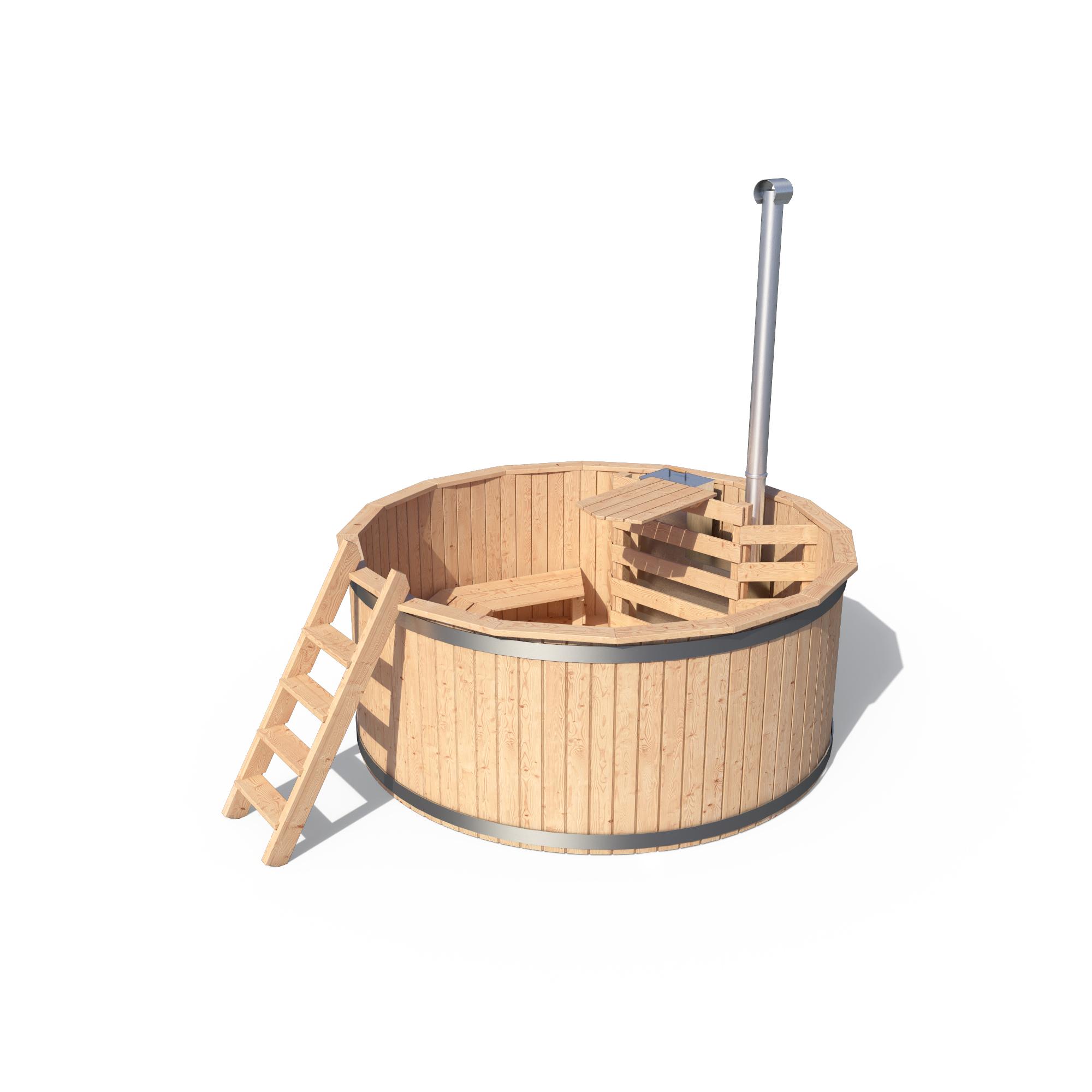 Isidor vasca da bagno in legno calda idromassaggio esterna for Vasca da bagno esterna
