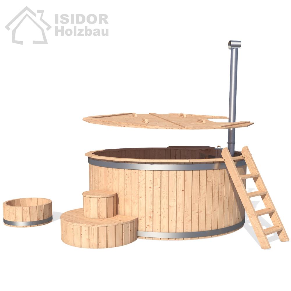 isidor wooden bath tub cask bathing barrel keg pool. Black Bedroom Furniture Sets. Home Design Ideas