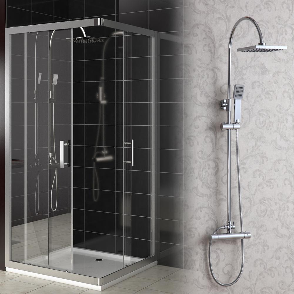 Panneau de douche de t te montable syst me complet thermostat douche baignoir - Panneau de baignoire ...