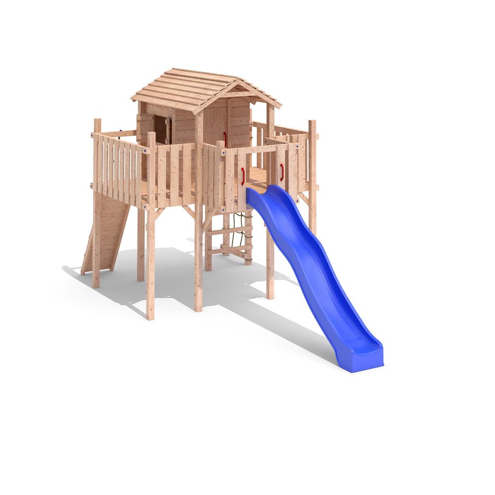 terrizio maxi aire de jeux cabane de jeu tour d 39 escalade glissez swing ebay. Black Bedroom Furniture Sets. Home Design Ideas