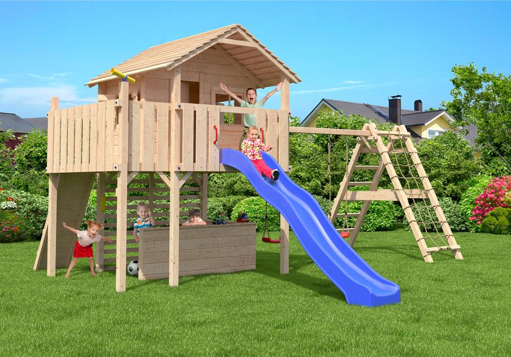 maximo aire de jeux cabane de jeu tour d 39 escalade glissez swing ebay. Black Bedroom Furniture Sets. Home Design Ideas