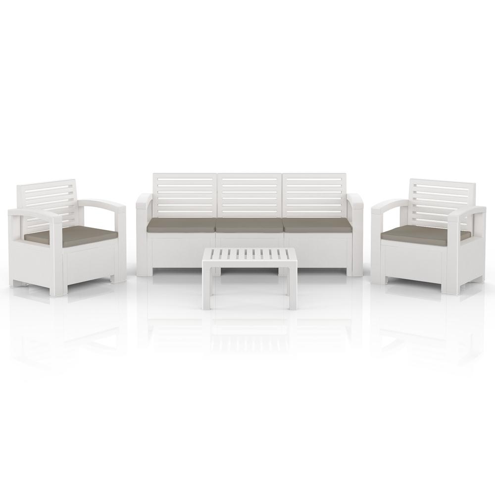 BICA Nevada plástico Juego de Muebles de Jardín set color blanco