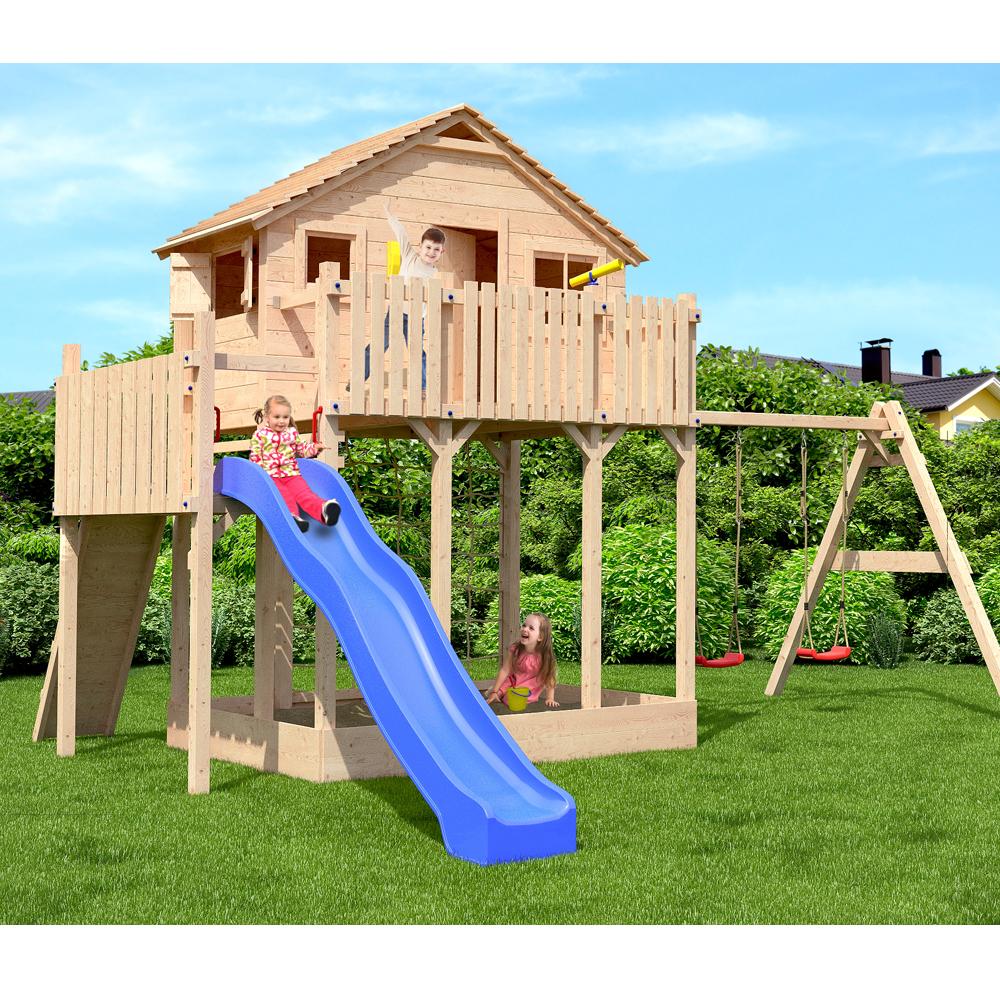 baumhaus xxl casa de madera torre juego nio arenero tobogn columpios nuevo
