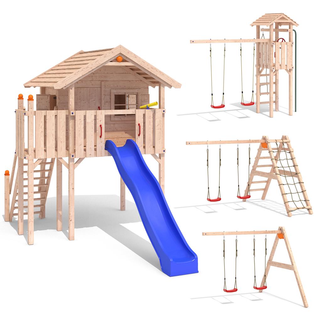 isidor wonder wow aire de jeux glissez swing treehouse. Black Bedroom Furniture Sets. Home Design Ideas