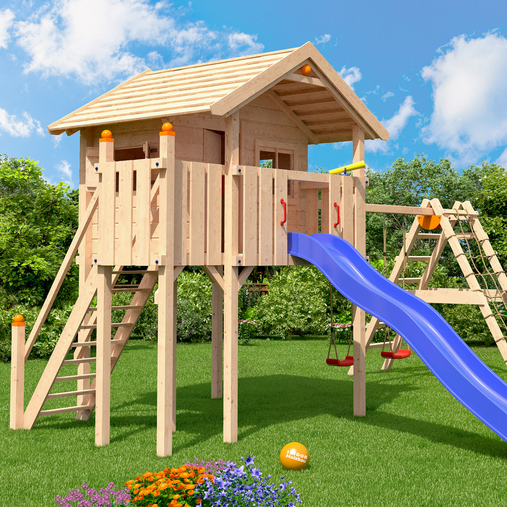 isidor wonder wow aire de jeux glissez swing treehouse cabane de jeu ebay. Black Bedroom Furniture Sets. Home Design Ideas