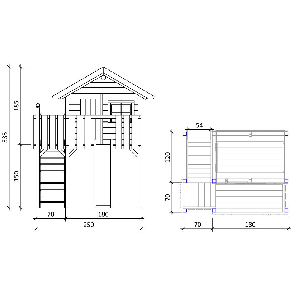 isidor wonder wow aire de jeux glissez swing treehouse cabane de jeu ebay. Black Bedroom Furniture Sets. Home Design Ideas