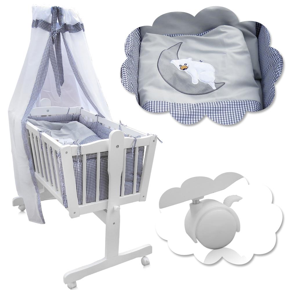 berceau b b lit b b en bois nacelle lit d 39 appoint colori literi gris ebay. Black Bedroom Furniture Sets. Home Design Ideas