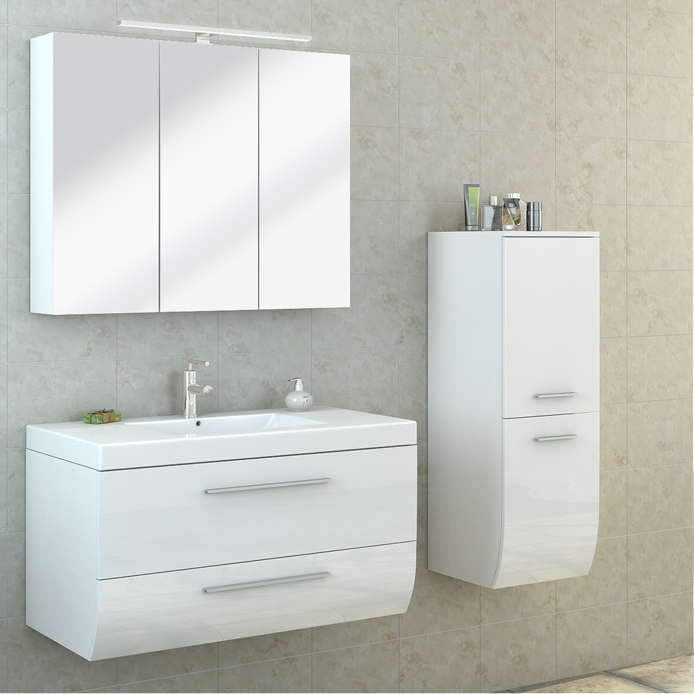 High gloss bathroom furniture with beautiful styles in for Bathroom furniture 700mm