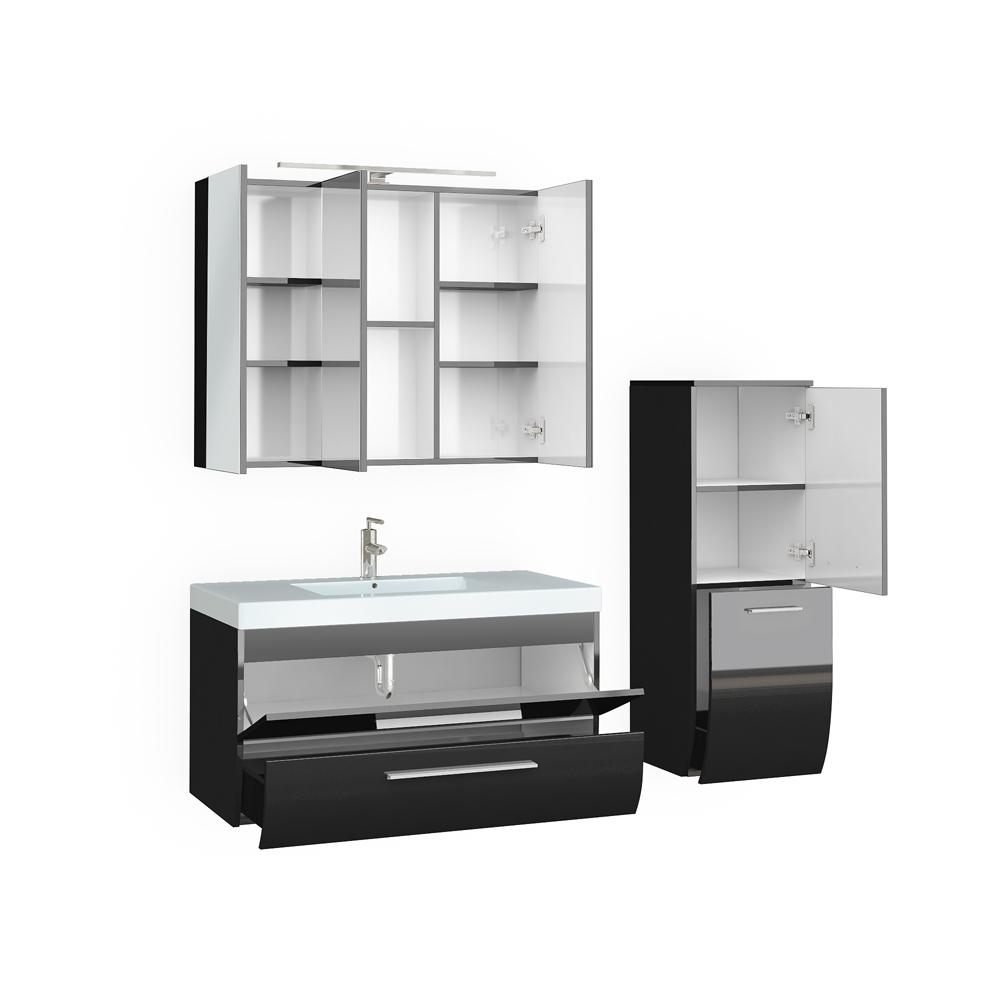 Model   High Gloss Bathroom Set With LED Lighting  Sena Home Furniture