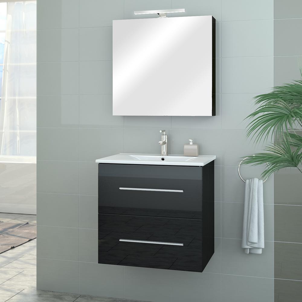 Bathroom furniture set high gloss bathroom mirror sink for Bathroom cabinets 400mm high
