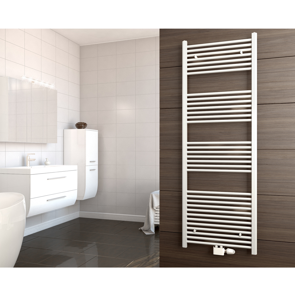 radiateur bain porte serviettes chauffant s choir chauffage blanc 175x4x52cm ebay. Black Bedroom Furniture Sets. Home Design Ideas